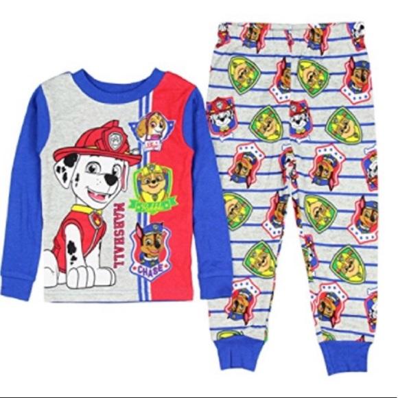 Paw Patrol Pajamas 3T 4T 5T Toddler Boys 2 Piece Flannel Set New Nickelodeon